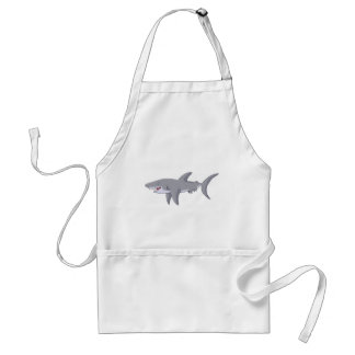 Cartoon Great White Shark Adult Apron