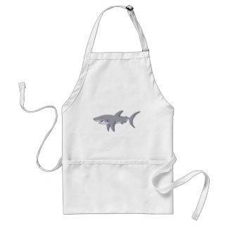 Cartoon Great White Shark Adult Apron