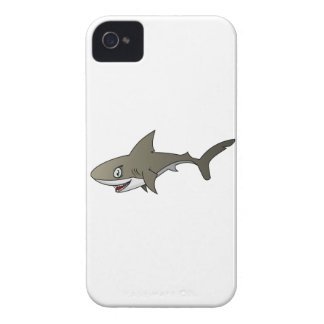 Cartoon Great White Shark iPhone 4 Case-Mate Cases