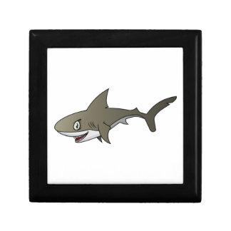 Cartoon Great White Shark Keepsake Box