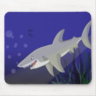 Cartoon Great White Shark Mousepad