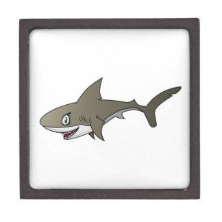 Cartoon Great White Shark Premium Keepsake Box