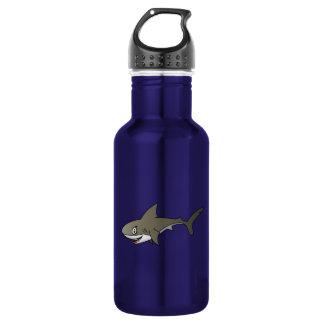 Cartoon Great White Shark Water Bottle