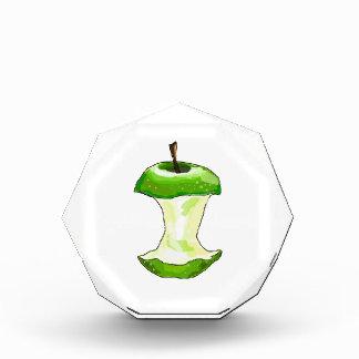 Cartoon Green Apple (Granny Smith) Apple Core Acrylic Award