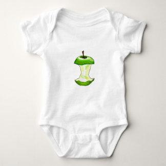 Cartoon Green Apple (Granny Smith) Apple Core Baby Bodysuit