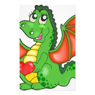 Cartoon Green Dragon Stationery