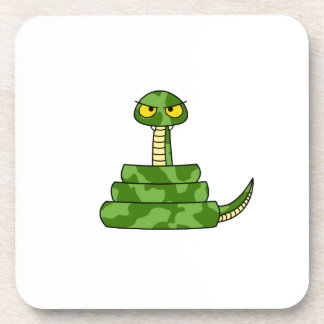 Cartoon Green Snake in Coil Coaster