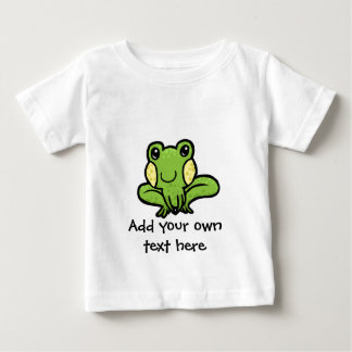 cartoon green speckled frog customisable tee shirt