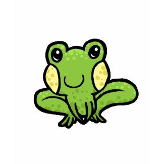 Cartoon green speckled frog shirt