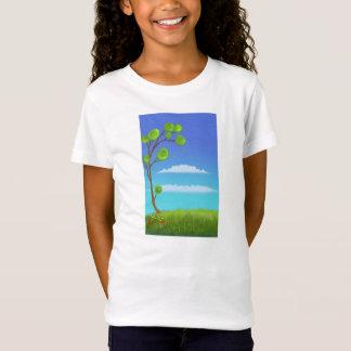 cartoon green tree Tshirt