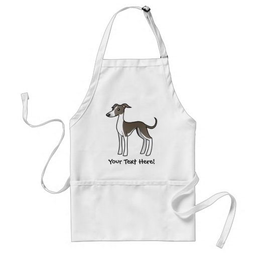 Cartoon Greyhound / Whippet / Italian Greyhound Apron