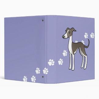 Cartoon Greyhound Whippet Italian Greyhound Vinyl Binders