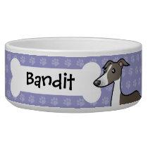 Cartoon Greyhound / Whippet / Italian Greyhound Bowl