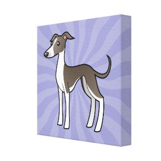 Cartoon Greyhound / Whippet / Italian Greyhound Canvas Print
