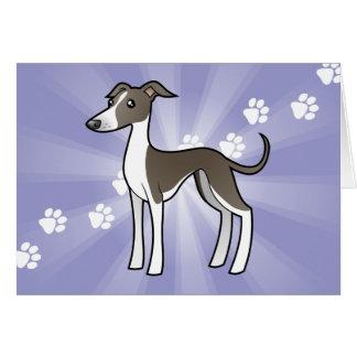 Cartoon Greyhound / Whippet / Italian Greyhound Card