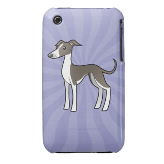 Cartoon Greyhound / Whippet / Italian Greyhound Case-Mate iPhone 3 Case