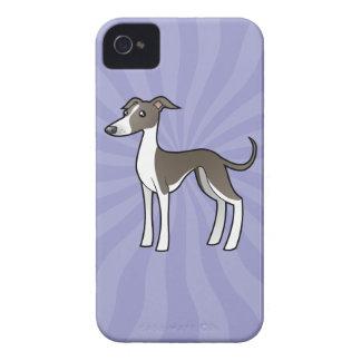 Cartoon Greyhound / Whippet / Italian Greyhound Case-Mate iPhone 4 Case