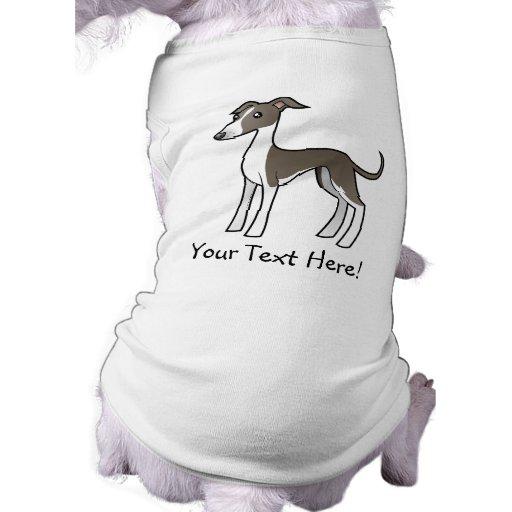 Cartoon Greyhound / Whippet / Italian Greyhound Dog Tee Shirt