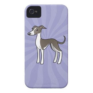 Cartoon Greyhound / Whippet / Italian Greyhound iPhone 4 Case
