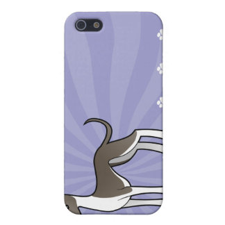 Cartoon Greyhound / Whippet / Italian Greyhound iPhone SE/5/5s Cover