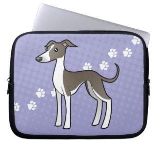 Cartoon Greyhound / Whippet / Italian Greyhound Laptop Sleeve