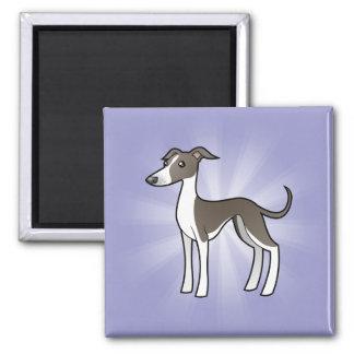 Cartoon Greyhound / Whippet / Italian Greyhound Fridge Magnets