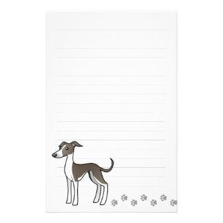 Cartoon Greyhound / Whippet / Italian Greyhound Stationery