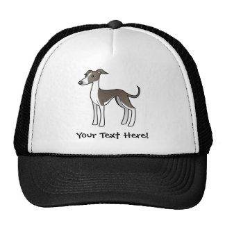 Cartoon Greyhound / Whippet / Italian Greyhound Trucker Hat