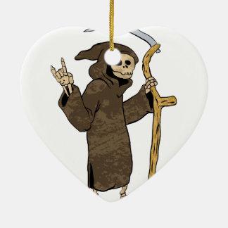 cartoon grim reaper. ceramic ornament