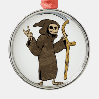 cartoon grim reaper. metal ornament
