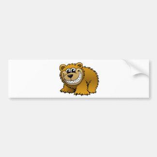 Cartoon Grizzly Bear Bumper Sticker