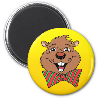 Cartoon Groundhog Magnet