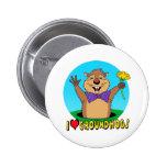 Cartoon Groundhog Pin