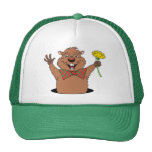 Cartoon Groundhog Trucker Hat