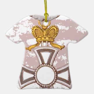 Cartoon grunge medal Double-Sided T-Shirt ceramic christmas ornament