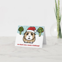 Cartoon Guinea Pig Christmas Card