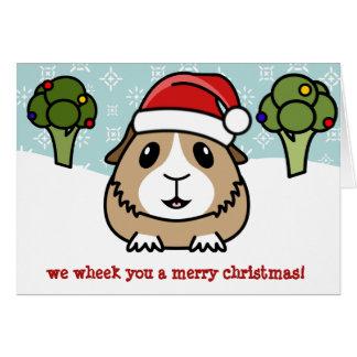 Cartoon Guinea Pig Christmas Card