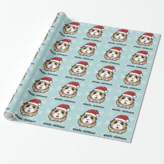 Cartoon Guinea Pig Christmas Wrapping Paper