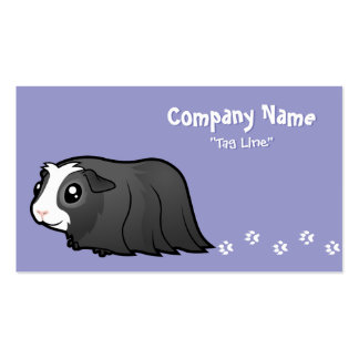 Cartoon Guinea Pig (long hair) Double-Sided Standard Business Cards (Pack Of 100)