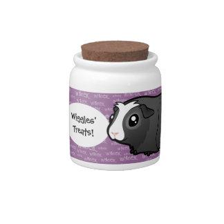 Cartoon Guinea Pig (long hair) Candy Jars