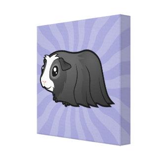 Cartoon Guinea Pig (long hair) Canvas Print