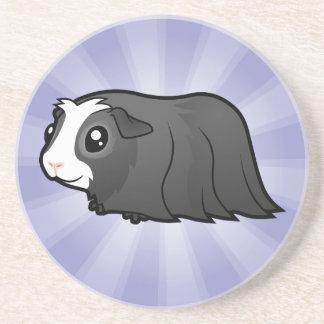 Cartoon Guinea Pig (long hair) Coaster