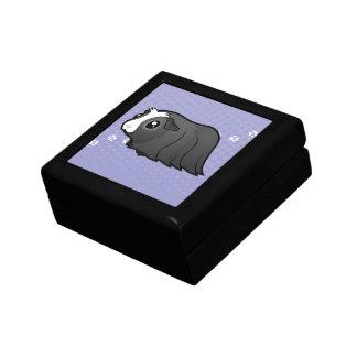 Cartoon Guinea Pig (long hair) Keepsake Box