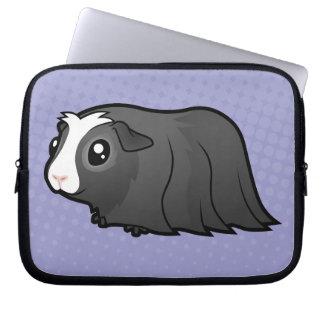 Cartoon Guinea Pig (long hair) Laptop Sleeve
