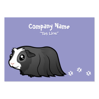 Cartoon Guinea Pig (long hair) Large Business Card
