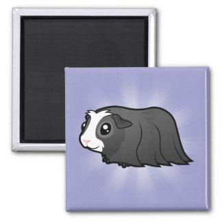 Cartoon Guinea Pig (long hair) Magnet