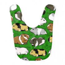Cartoon guinea pig pattern baby bib