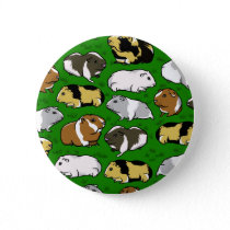 Cartoon guinea pig pattern button
