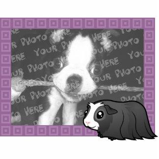 Cartoon Guinea Pig Photo Frame (long hair) Cutout