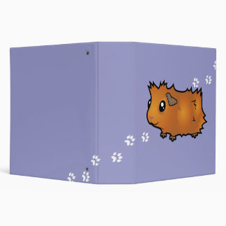Cartoon Guinea Pig (scruffy) 3 Ring Binder